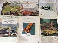 Lot of 6 Deco 30s Cadillac General Motors Auto Esquire Color Magazine Ads