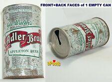 1963 Zip Tab Top Geo.Walter'S Adler-Brau Appleton Beer Can Wisconsin Silver Tin