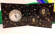 KANSAI Analog Desk or Room Clock Owls From Japan