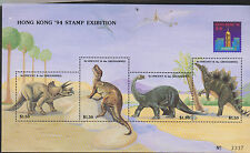 O) 1994 ST. VINCENT AND GRENADINES, DINOSAURS, HONG KONG STAMP EXIBITION, SOUVEN