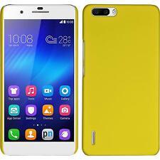 Custodia Rigida Huawei Honor 6 Plus - gommata giallo + pellicola protettiva