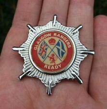 More details for glasgow rangers ready vintage 1970's large insert pin badge rare vgc