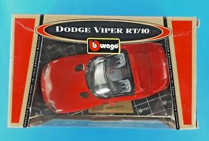 BBurago Red Dodge Viper RT/10 COD.3325 Gold Collection 1/18 Made In Italy