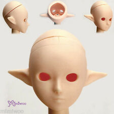 Obitsu 1/6 Figure 25cm 27cm Female Body Open Eye Hole Pixy Elf Ear Head White