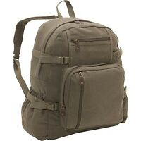 Canvas LG BACKPACK Hiking Camping Army USMC Marines Urban City School Book Bag