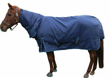 New! Waterproof Turnout Horse Blanket W/Neck Cover 74""