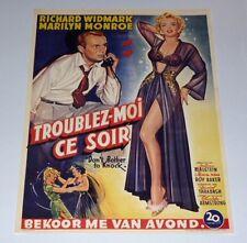 Marilyn Monroe Don't Bother to Knock (Troublez Moi Ce Soir) Belgium Poster Repro