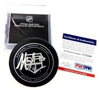 DUSTIN BROWN SIGNED LOS ANGELES KINGS 2013 GAME PUCK PSA/DNA