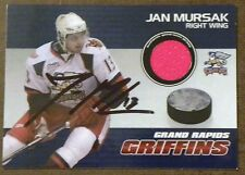 Detroit Red Wings Jan Mursak Signed Grand Rapids Griffins SGA GU Red Jersey Card