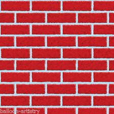 40ft Christmas Scene Setter Room Roll - Red Brick Wall