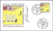 BRD 1999: Erich Kästner FDC der Nr 2035 mit Berliner Ersttagsstempeln! 1A! 1803