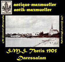 **Deutsch-Ostafrika S.M.S. Thetis in Daressalam Straßenszenen 3 x orig 1905