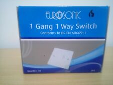 BOX OF 10 EUROSONIC I GANG 1 WAY SWITCH, CONFORMS TO BS EN 60669-1