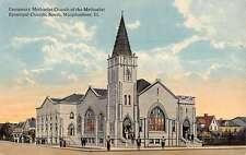 Murphysboro Illinois Episcopal Church Street View Antique Postcard K53759