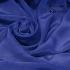 #8 (turkish sea blue)114cm wide 14momme Pure Silk Crepe De Chine Fabric button