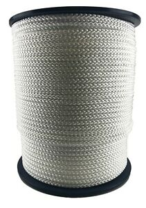 10mm White Braided Polypropylene Rope x 20 Metres, Paracord Drawstring Camping