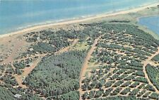 CAVENDISH PRINCE EDWARD ISLAND CANADA CAMPING AREA AERIAL VIEW POSTCARD 1960s