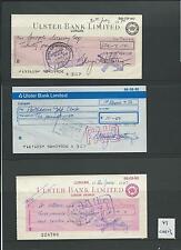 Formulario de leucocitos. - Cheque-Usado - 1960/70's - CHQ13-Ulster Bank Ltd-lurghan X 3