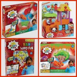 BRAND NEW BOXED RYAN'S WORLD ULTIMATE TREEHOUSE STRETCHY SAND LUDO GOO SLIME KIT
