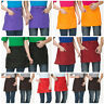 Half-length Short Waist Apron with Pocket Catering Chefs Bar Waiters Uniform New