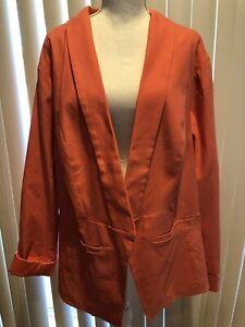 Torrid Women's Plus Size 5 Pink Coral Cutaway Open Lined Blazer Jacket. *NWT*