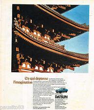 PUBLICITE ADVERTISING 055  1973  DATSUN  120A