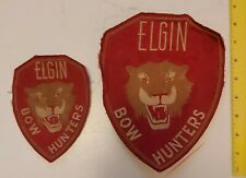 """***ATTRACTIVE CANADIAN (ELGIN COUNTY, ONT.) """"ELGIN BOW HUNTERS"""" CLOTH PATCHES"""
