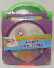 Spirograph Spiral Art PURPLE Children's Craft Set Carry Case Travel Size S2