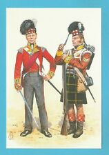 MILITARY  -  ALIX  BAKER  POSTCARD  -  SOLDIERS OF 92ND REGIMENT OF FOOT - 1815