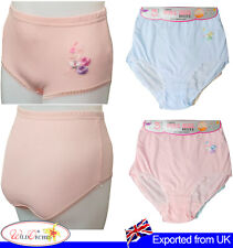 Womens Full Brief Underwear Floral Embroidery Panties Knickers 12 Pack 3XL - 6XL