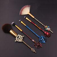 5pcs Marvel's The Avengers Makeup Brushes Tool Cosmetics Cosplay Power Brush Set