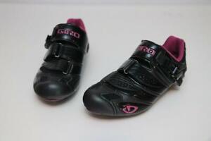 Giro Womens Factress Cycling Road Bike Shoes 37.5 6.25 Black Fuschia EC90 Carbon