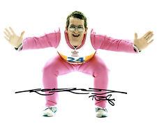 Eddie The Eagle EDWARDS Ski Jumping Olympic Legend SIGNED 10x8 Photo B AFTAL COA