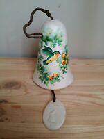 Vintage Ceramic Bird & Flowers Wind Chime Bell - Sandstone Creations USA
