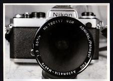 FOTOGRAFIA PHOTO VINTAGE B/W NIKON CON OBIETTIVO MACRO ADMIRAL PANAGOR