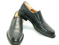 ECCO BLACK LEATHER DRESS CASUAL SLIP ON APRON TOE MENS SIZE EUR 45 11.5 US