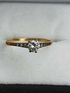 ANTIQUE DIAMOND RING FABULOUS DIAMOND,18K YELLOW GOLD & PLATINUM