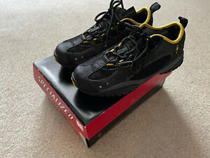 SPECIALIZED Rock Hopper Charcoal/Yellow Size 7 Men Women Cyclling MTB Shoes