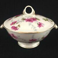VTG Lidded Sugar Bowl by NS Nagoya Shokai Mountain Pink Ivory China Japan