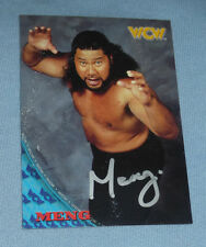 Meng Signed 1998 Topps WCW NWO Card WWE Haku Faces of Fear Wrestling Autograph