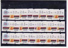 SELLOS ATms 1992 5a. MADRID 19v. CON NUMERO 4 DIGITOS