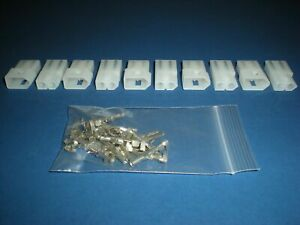 """2 Pin Molex Connector Kit, 5 Sets, w/14-20 AWG .093"""" Pins, Free Hanging 0.093"""""""