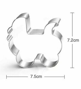 Stainless Steel Baby Pram Shape Cookie Cutter
