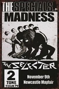 Ska 2 Tone Metal Sign Madness Selecter The Specials Vintage Bar Man Cave Plaque
