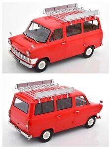 1/18 KK Scale Ford Transit Bus 1965 Rouge Neuf En Boîte Livraison Domicile