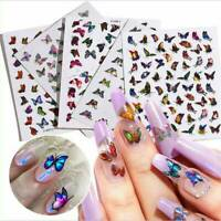 3D Butterfly Nail Art Sticker Holographics Various Pattern UV Gel Nail US X1