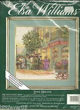 THE OLD COFFEE SHOP,STREET CAFE,ELSA WILLIAMS,VICTORIAN,COUNTED CROSS STITCH KIT
