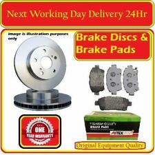 JAGUAR XF 2008-2015 REAR VENTED 326mm COATED BRAKE DISC  AND REAR BRAKE PADS