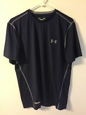 Under Armour Heat Gear Fitted  Shirt - Men's Large - Navy Blue