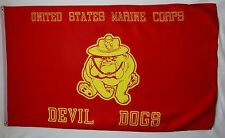 United States Marine Corps Devil Dogs Flag 3' X 5' Indoor Outdoor Usmc Banner